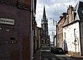 Abbeville rue de l'Eauette et église St-Jacques 1a.jpg