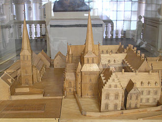 Thorn Abbey -  Model of the abbey district