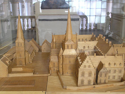Model of the abbey district Abdijkerk Thorn - Maquette.jpg