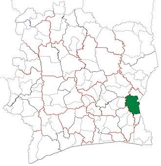 Abengourou Department - Image: Abengourou Department locator map Côte d'Ivoire