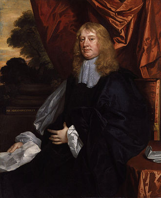 1663 in poetry - Abraham Cowley, portrait by Peter Lely, created about 1665-1666