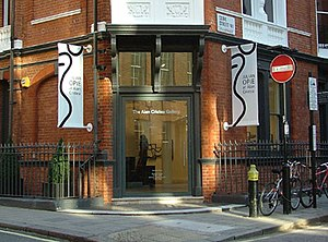 Alan Cristea Gallery - The entrance in Cork Street