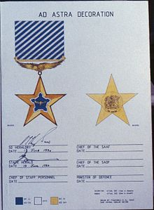 Ad astra decoration for Air force decoration points