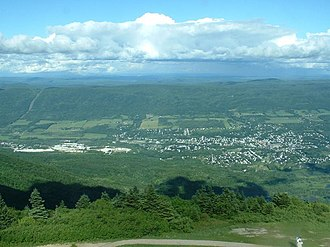 Adams, Massachusetts - A view of Adams from atop Mount Greylock