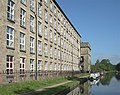 Adelphi Mill and Macclesfield Canal at Bollington, Cheshire - geograph.org.uk - 568130.jpg