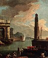 Adrien-manglard-a-mediterranean-harbour-with-peasants-on-the-shore-with-a-launch-by-a-quayside-and-a-tower-beyond.jpg