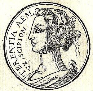 """Aemilia Tertia - Aemilia Tertia in the """"Promptuarii Iconum Insigniorum"""""""