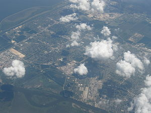 Port Arthur, Texas - Aerial view of Port Arthur