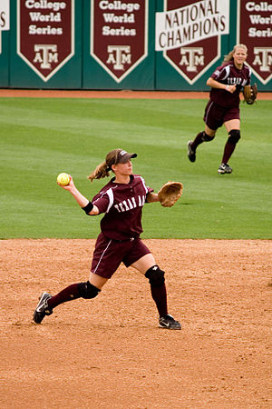 Texas A&M Aggies - Aggie softball player at the Aggie Softball Complex