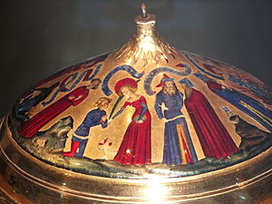 Agnes of Rome - Agnes depicted on the Royal Gold Cup
