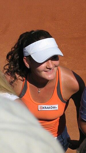 English: Agnieszka Radwańska after her first ...