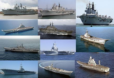 Various aircraft carriers from around the world