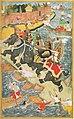 Akbar domptant l'éléphant Hawai.jpg