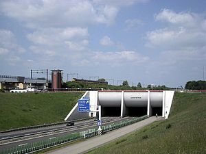 Grou - A32 underpass of the Prinses Margriet Kanaal