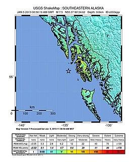 2013 Craig, Alaska earthquake Supershear earthquake in Alaska and British Columbia
