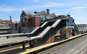 Albany-Rensselaer Rail Station - View from the NW on the Herrick Street Bridge.jpg