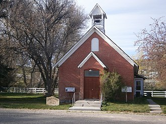National Register of Historic Places listings in Cassia County, Idaho - Image: Albion Idaho church