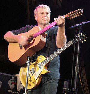 Snakes & Arrows Tour - Alex Lifeson playing his Garrison GD25-12 guitar
