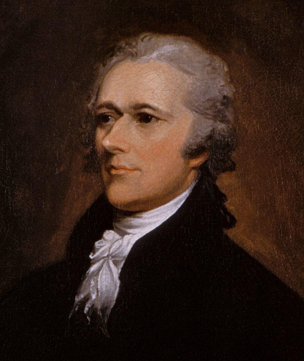 Alexander Hamilton portrait by John Trumbull 1806, detail