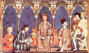 Literature of Alfonso X - Image: Alfonso X el Sabio y su corte