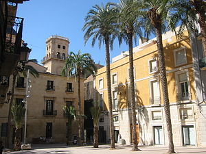History of Alicante - Monjas-Santa Faz Square in Alicante.