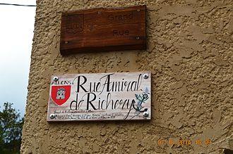 Allons, Alpes-de-Haute-Provence - Plaque commemorating Joseph de Richery