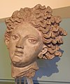 Altorilievo del frontone anteriore del tempio A di pyrgi, con scene della saga tebana, 340-330 ac. ca., 02 testa di leucotea 0.jpg