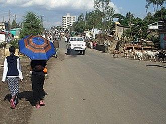 Ambo, Ethiopia - Downtown Ambo (March 2006)