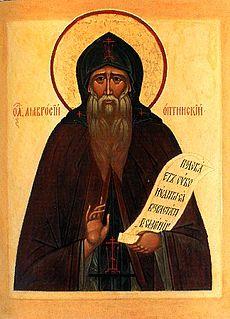 Ambrose of Optina Russian Orthodox elder, monk, and saint