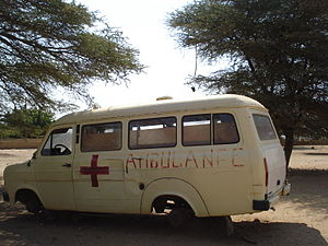 Healthcare in Senegal - Ambulance in Agnam-Goly, 2006