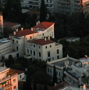 American School of Classical Studies at Athens - The ASCSA main building as seen from Mount Lykavittos