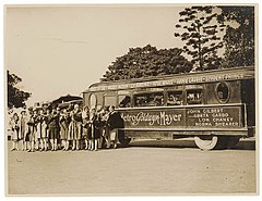"American women's jazz band ""Ingenues"" and the ""Trackless Train"", Sydney, late 1920's - Sam Hood (3445858319).jpg"
