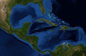 American Mediterranean Sea - Composite satellite image of the American Mediterranean Sea