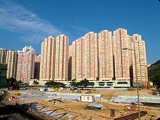 Amoy Gardens - Amoy Gardens in 2011, after the demolition of Lower Ngau Tau Kok (II) Estate.