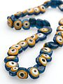 Amulet necklace, 49 glass beads resembling eyes, Palestine Wellcome L0057068.jpg