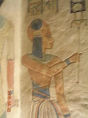 Amun-her-khepeshef (20th dynasty) - Amunherkhepeshef from his tomb QV55