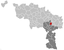 Vị trí của Anderlues in Hainaut
