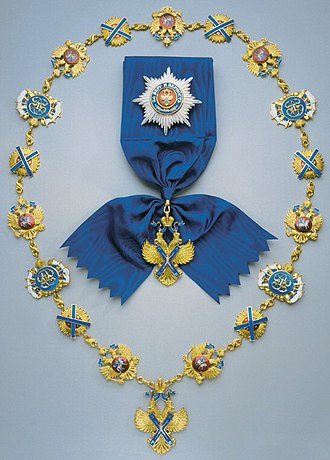 Order of St. Andrew - Star, Sash and Collar of the Modern Order of St. Andrew the Apostle the First Called