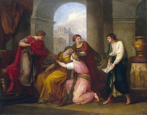 Angelica Kauffmann - Virgil reading the 'Aeneid' to Augustus and Octavia (Hermitage)