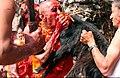 Animal sacrifice Masto Puja ragat bhog.jpg