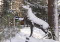 Animal sculpture covered in snow, Mammoth Lakes, California LCCN2013633679.tif