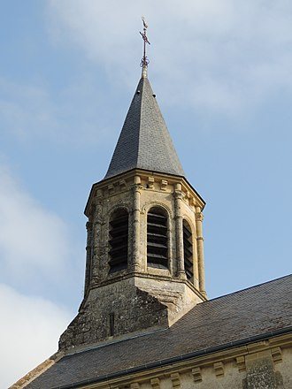 Anjouin - The bell tower of the church of Saint-Martin, in Anjouin