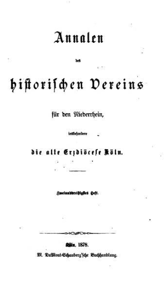 File:Annalen des Historischen Vereins für den Niederrhein 32 (1878).djvu