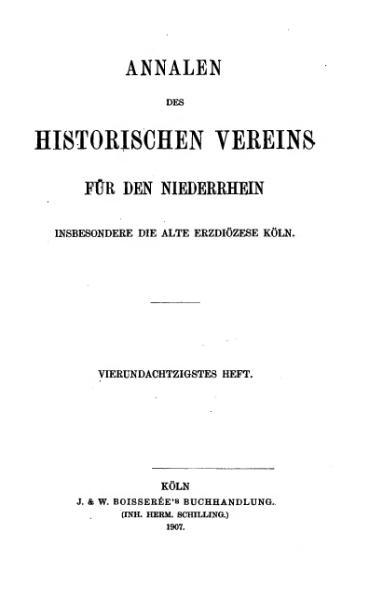File:Annalen des Historischen Vereins für den Niederrhein 84 (1907).djvu