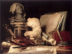 Anne Vallayer-Coster - Attributes of Painting, Sculpture, and Architecture - WGA24263.jpg