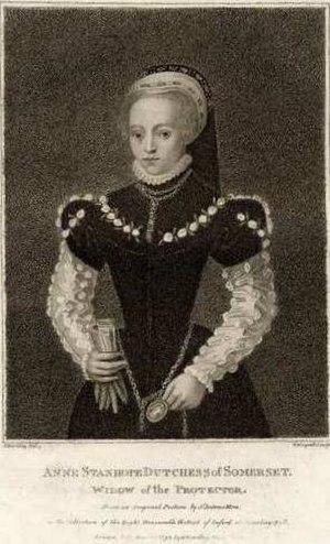 Anne Seymour, Duchess of Somerset - Anne Seymour, Duchess of Somerset in a 19th century engraving