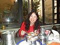 Annie eat Kushari.JPG