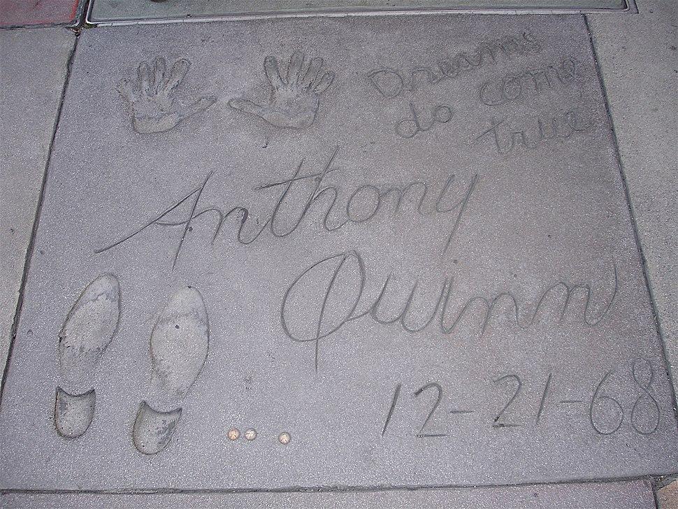 AnthonyQuinnFootPrint