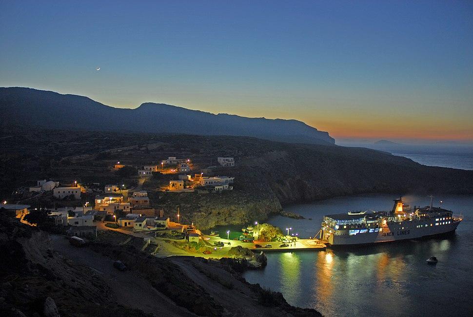 Antikythera's harbour Potamos