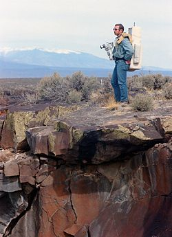 Commander Dave Scott during geology training in New Mexico on 1971-03-19.